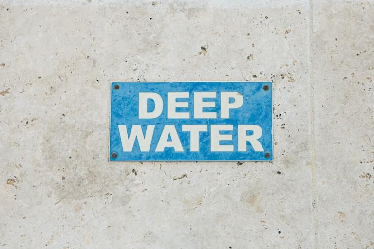 deep water sign