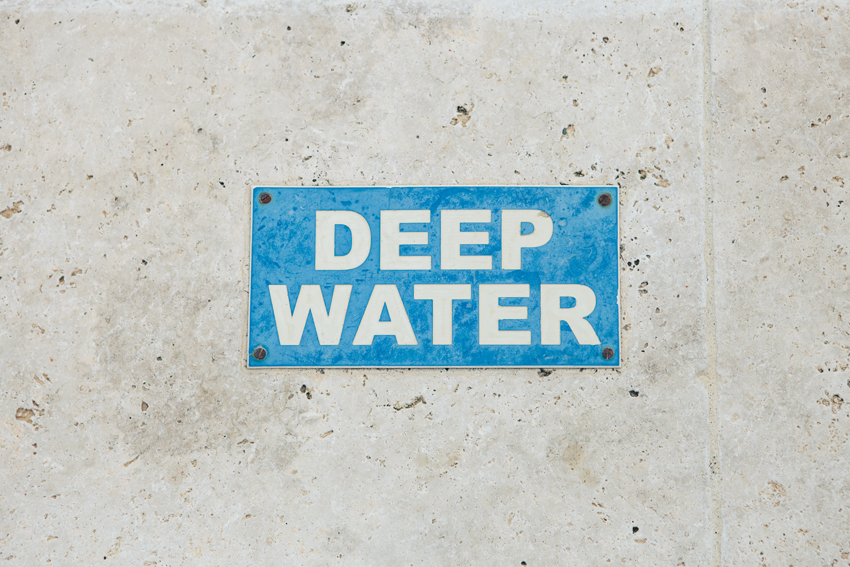 deep water sign