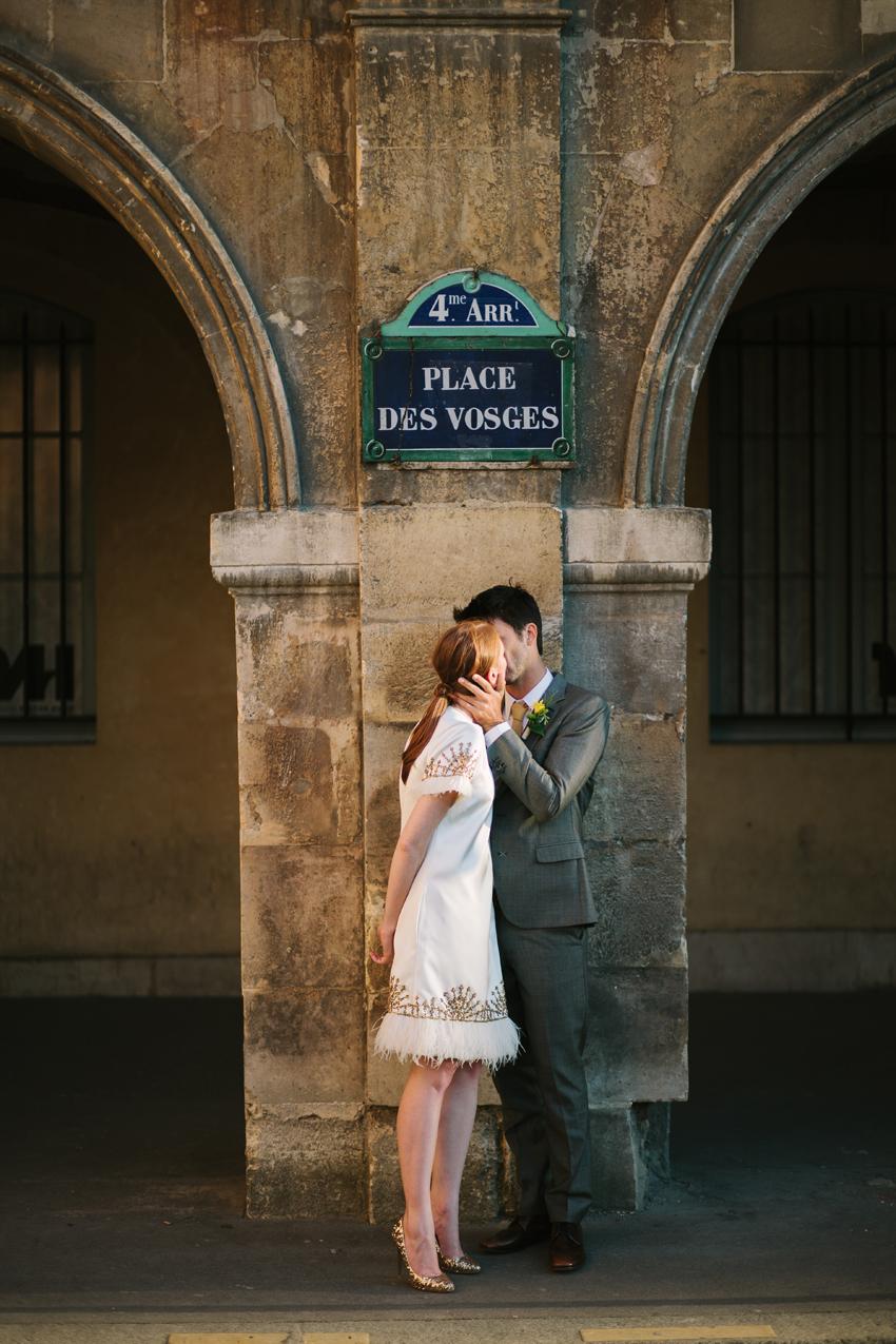 Hochzeitsreportage Paris Place des Vosges