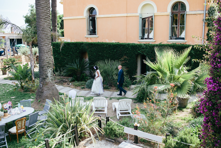 Villa Mauresque garden wedding