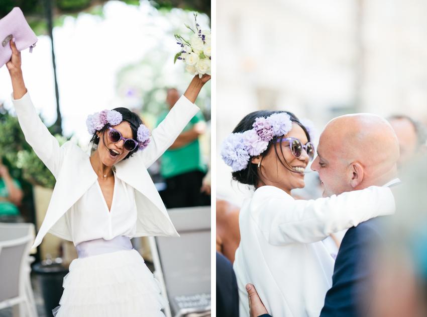 violet detail mariage