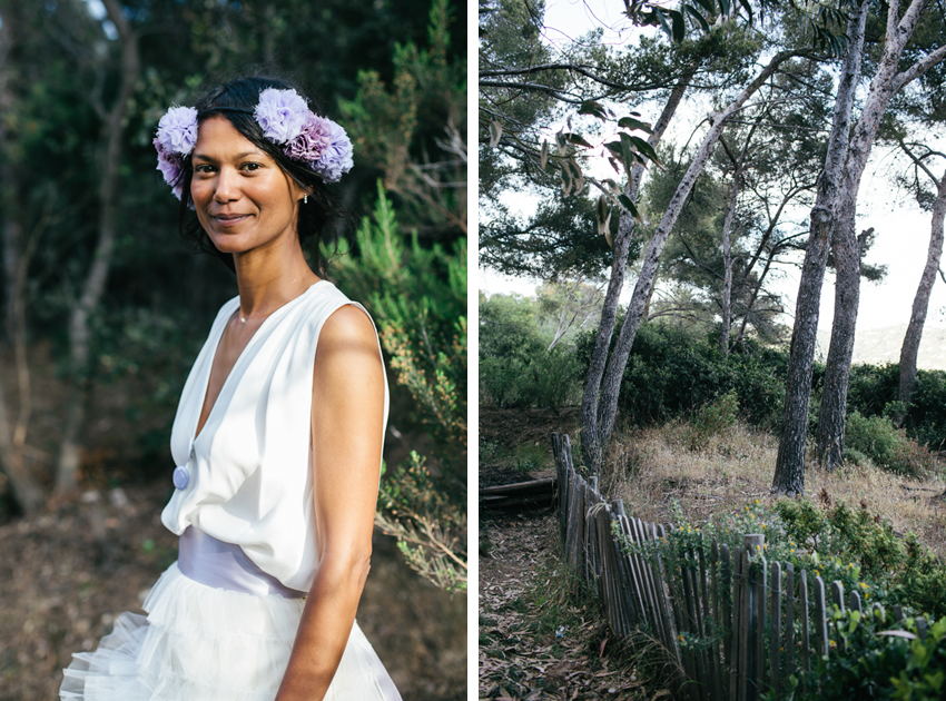 French Riviera portrait bride