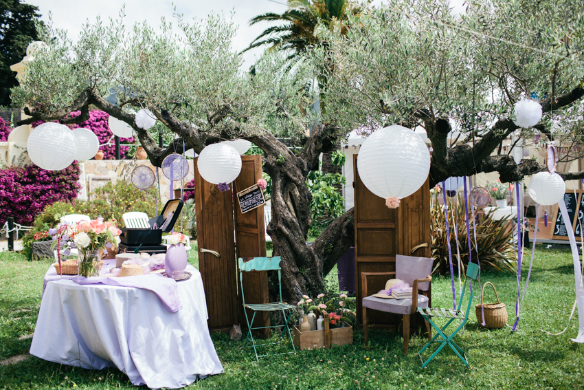 whimsical wedding details French